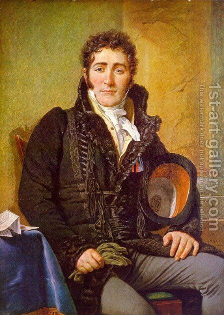 Portrait of the Count de Turenne 1816 by Jacques Louis David - Reproduction Oil Painting