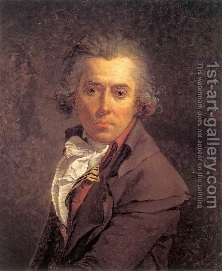 Self-Portrait 1791 by Jacques Louis David - Reproduction Oil Painting