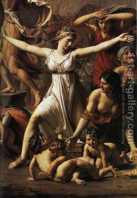 The Intervention of the Sabine Women (detail 1) 1799 by Jacques Louis David - Reproduction Oil Painting