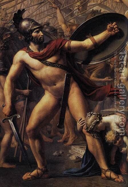 The Intervention of the Sabine Women (detail 2) 1799 by Jacques Louis David - Reproduction Oil Painting
