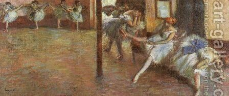 Ballet Rehearsal 1891 by Edgar Degas - Reproduction Oil Painting