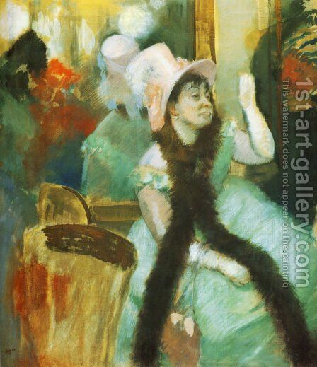 Portrait after a Costume Ball (Portrait of Madame Dietz-Monnin) 1877-79 by Edgar Degas - Reproduction Oil Painting