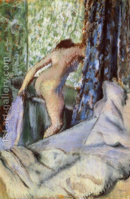 The Morning Bath 1890 by Edgar Degas - Reproduction Oil Painting
