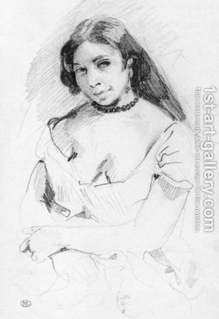 Aspasia by Eugene Delacroix - Reproduction Oil Painting