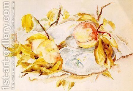 Peaches 1923 by Charles Demuth - Reproduction Oil Painting