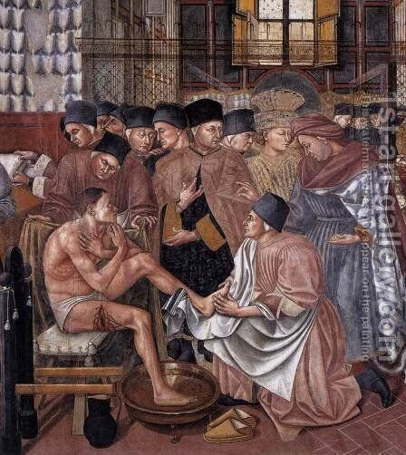 Care of the Sick (detail 2) 1441-42 by Domenico Di Bartolo - Reproduction Oil Painting