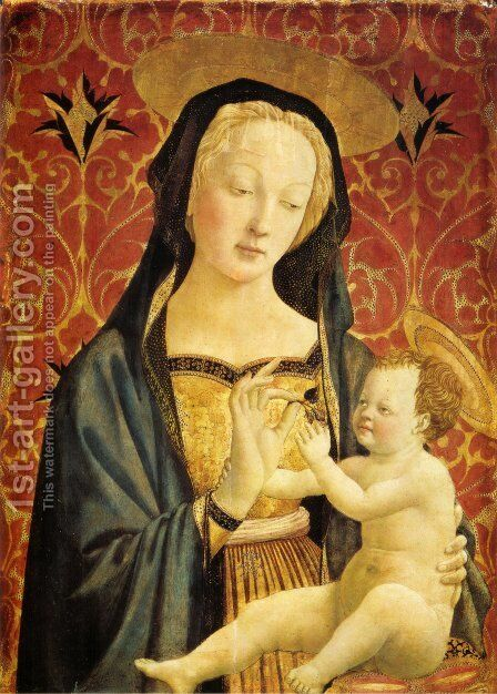 Madonna and Child 1435-37 by Domenico Veneziano - Reproduction Oil Painting