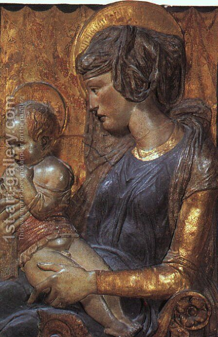Virgin and Child 1440 by Donatello - Reproduction Oil Painting