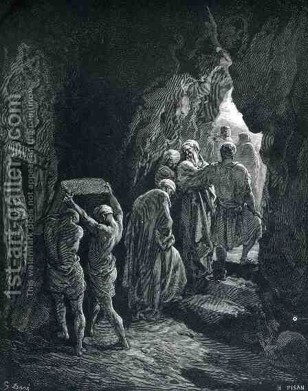 The Burial of Sarah by Gustave Dore - Reproduction Oil Painting