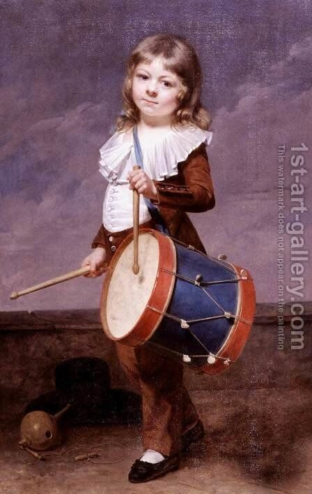 Portrait of the Artist's Son as a Drummer by Martin Drolling - Reproduction Oil Painting