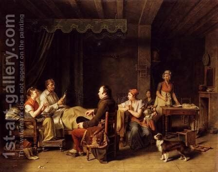 The Messenger of The Good News, 1806 by Martin Drolling - Reproduction Oil Painting