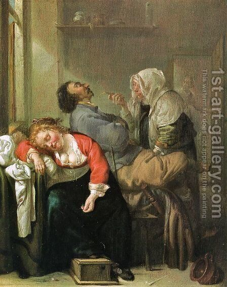 Sleeping Woman 1650s by Jacob Duck - Reproduction Oil Painting