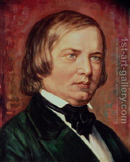 Portrait of Robert Schumann (1810-1856) by Gustav Zerner - Reproduction Oil Painting