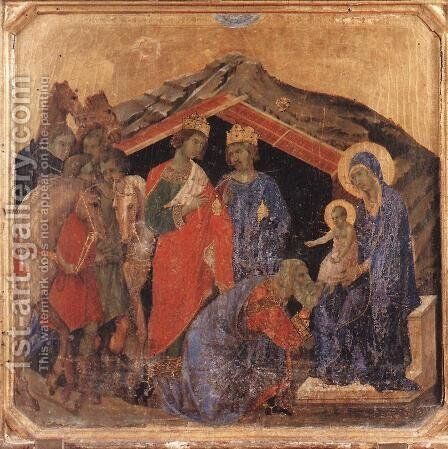 Adoration of the Magi 1308-11 by Duccio Di Buoninsegna - Reproduction Oil Painting