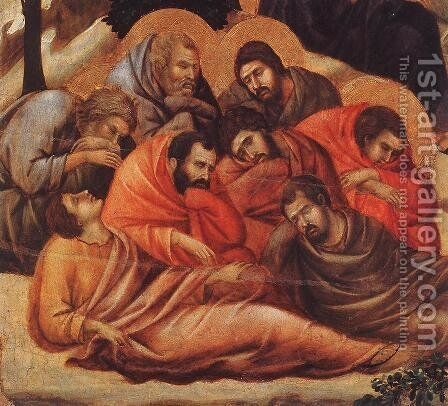 Agony in the Garden (detail 2) 1308-11 by Duccio Di Buoninsegna - Reproduction Oil Painting