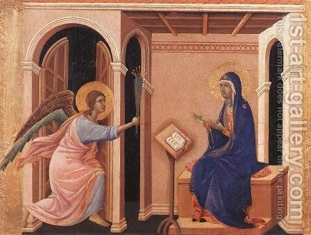Announcement of Death to the Virgin 1308-11 by Duccio Di Buoninsegna - Reproduction Oil Painting