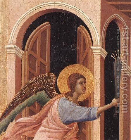Announcement of Death to the Virgin (detail 2) 1308-11 by Duccio Di Buoninsegna - Reproduction Oil Painting