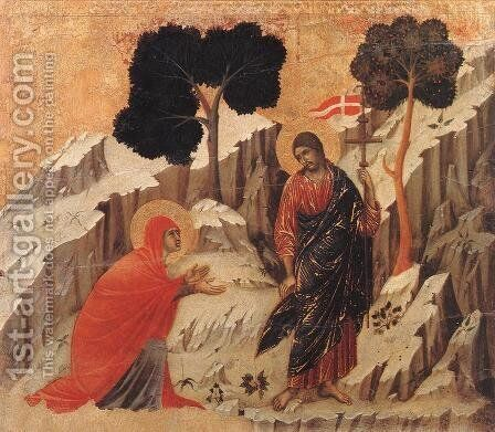 Appearence to Mary Magdalene (Noli me tangere) 1308-11 by Duccio Di Buoninsegna - Reproduction Oil Painting