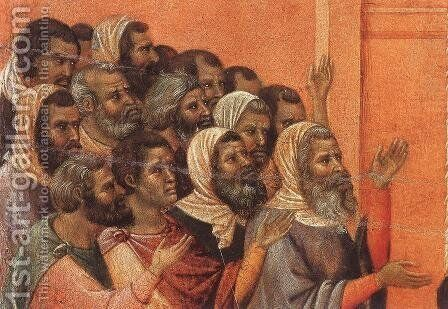 Christ Accused by the Pharisees (detail) 1308-11 by Duccio Di Buoninsegna - Reproduction Oil Painting