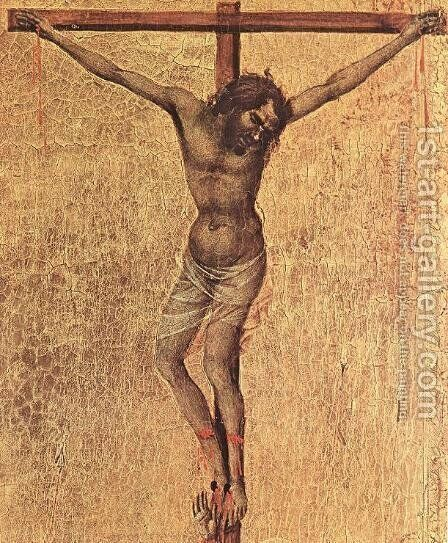 Crucifix (detail 1) 1308-11 by Duccio Di Buoninsegna - Reproduction Oil Painting