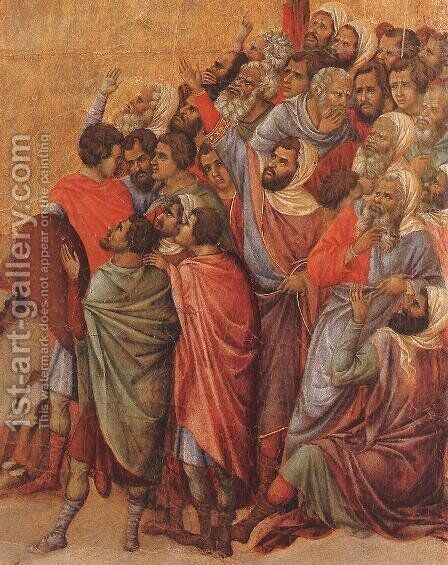 Crucifix (detail 2) 1308-11 by Duccio Di Buoninsegna - Reproduction Oil Painting