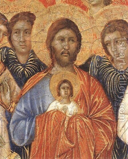 Death of the Virgin (detail) 1308-11 by Duccio Di Buoninsegna - Reproduction Oil Painting