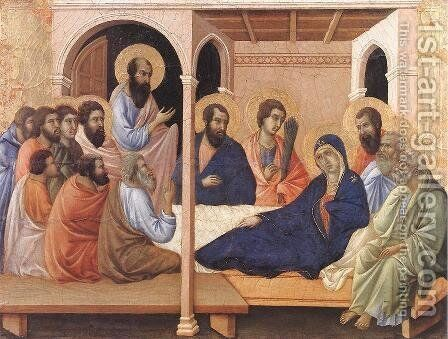 Parting from the Apostles 1308-11 by Duccio Di Buoninsegna - Reproduction Oil Painting