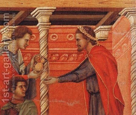 Pilate Washing his Hands (detail) 1308-11 by Duccio Di Buoninsegna - Reproduction Oil Painting
