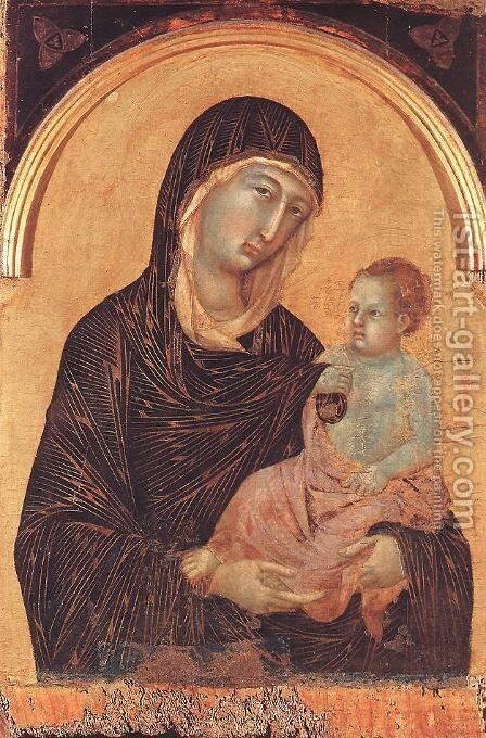 Polyptych No. 28 (detail) 1300-05 by Duccio Di Buoninsegna - Reproduction Oil Painting
