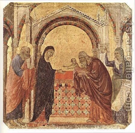 Presentation in the Temple 1308-11 by Duccio Di Buoninsegna - Reproduction Oil Painting