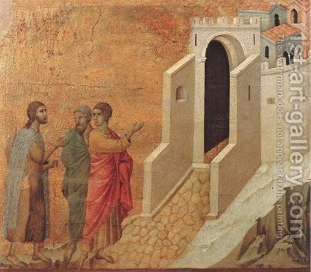 Road to Emmaus 1308-11 by Duccio Di Buoninsegna - Reproduction Oil Painting