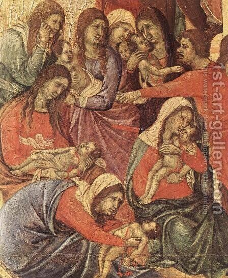 Slaughter of the Innocents (detail) 1308-11 by Duccio Di Buoninsegna - Reproduction Oil Painting
