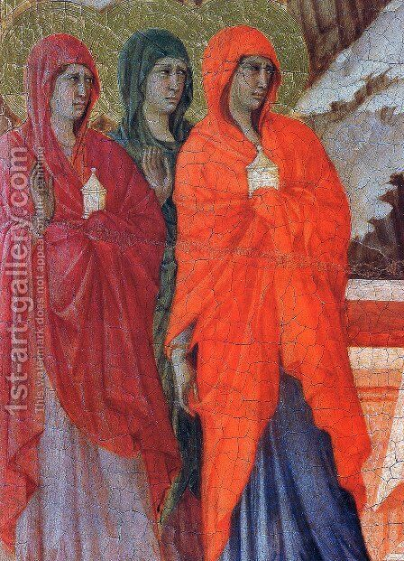 The Three Marys at the Tomb (detail) 1308-11 by Duccio Di Buoninsegna - Reproduction Oil Painting