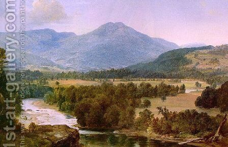 Genesee Valley Landscape 1853 by Asher Brown Durand - Reproduction Oil Painting