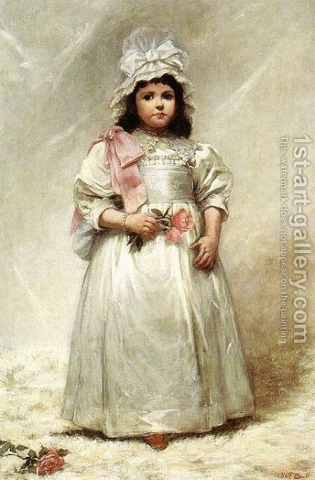 Little Lady Blanche 1884 by Elizabeth Lyman Boott Duveneck - Reproduction Oil Painting