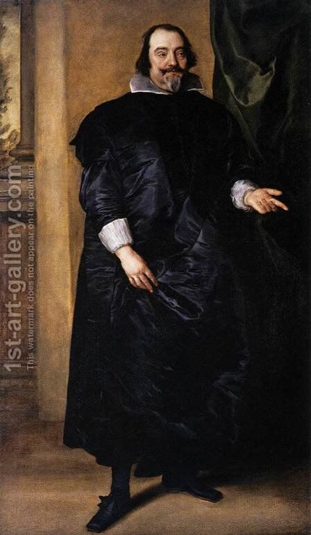 Portrait of Joost de Hertoghe 1635 by Sir Anthony Van Dyck - Reproduction Oil Painting