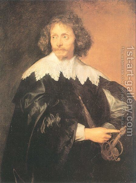 Sir Thomas Chaloner 1637 by Sir Anthony Van Dyck - Reproduction Oil Painting