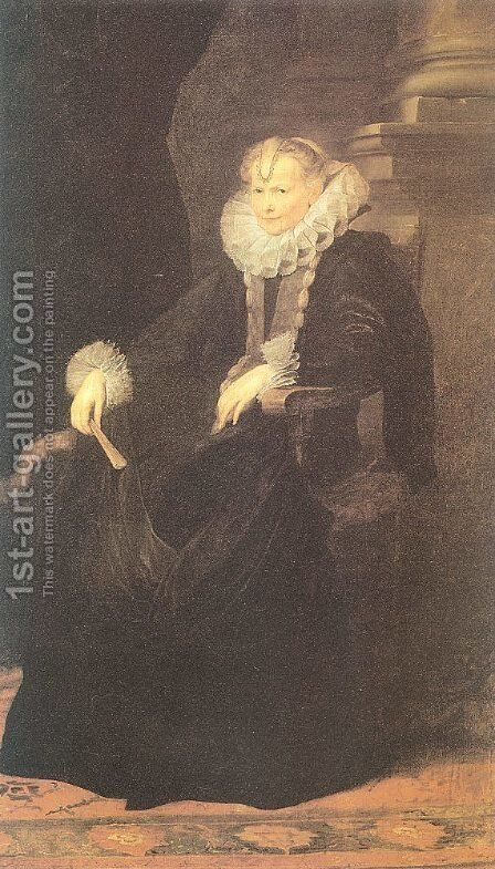 The Genoese Senator's Wife 1621-23 by Sir Anthony Van Dyck - Reproduction Oil Painting