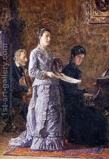 The Pathetic Song 1881 by Thomas Cowperthwait Eakins - Reproduction Oil Painting