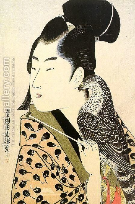 Falconer, 1789-1801 by Choensai Eishin - Reproduction Oil Painting