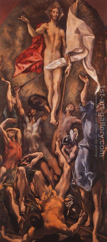 Resurrection, 1584-94 by El Greco - Reproduction Oil Painting