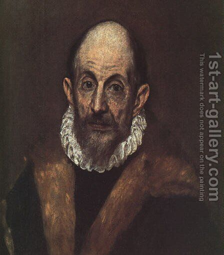 Self-Portrait 1604 by El Greco - Reproduction Oil Painting