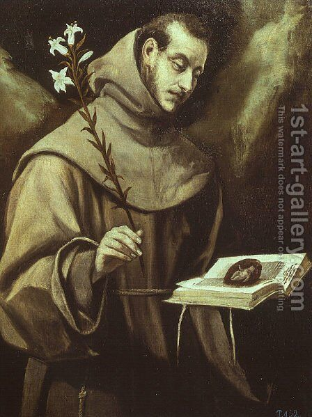 St. Anthony of Padua by El Greco - Reproduction Oil Painting
