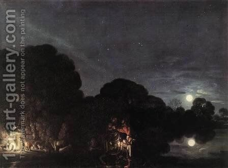 Flight into Egypt  1609 by Adam Elsheimer - Reproduction Oil Painting