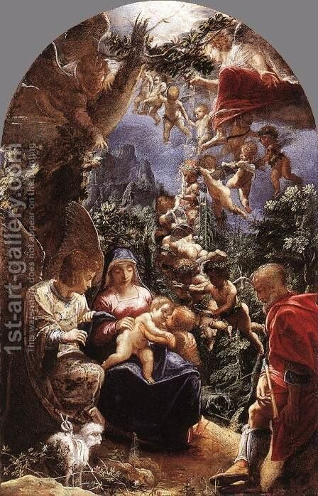 Rest on Flight into Egypt c. 1599 by Adam Elsheimer - Reproduction Oil Painting