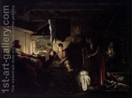 Jupiter and Mercury at Philemon and Baucis 1609-10 by Adam Elsheimer - Reproduction Oil Painting