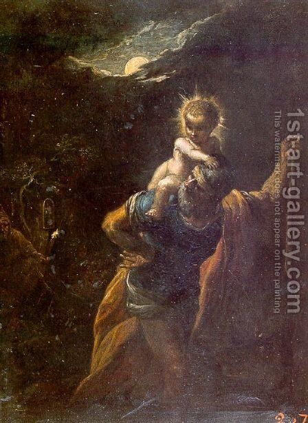 St. Christopher by Adam Elsheimer - Reproduction Oil Painting
