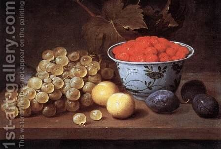 Still-Life with Fruit by Jacob Fopsen van Es - Reproduction Oil Painting
