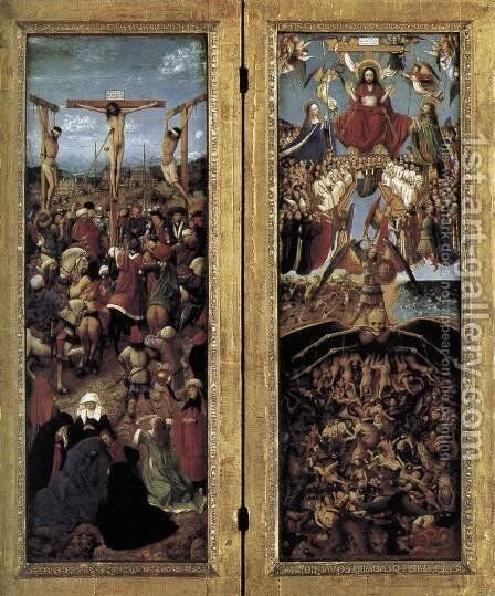 Diptych 1420-25 by Jan Van Eyck - Reproduction Oil Painting
