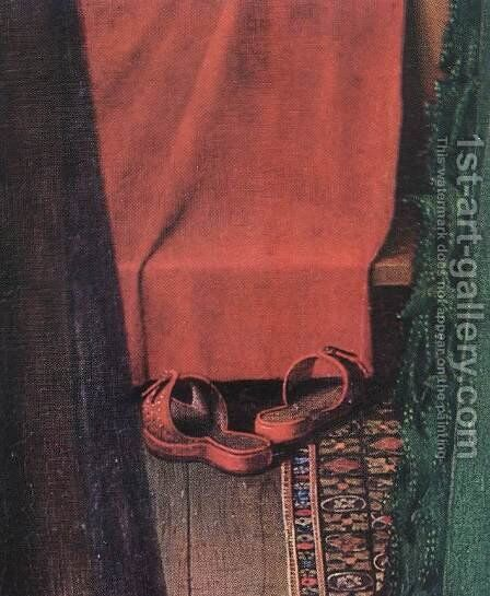 Portrait of Giovanni Arnolfini and his Wife (detail 8) 1434 by Jan Van Eyck - Reproduction Oil Painting